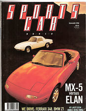 Sports Car World 1990 Sum Mazda MX5 BMW Z1 Ford Capri Turbo Supra Elan Zender