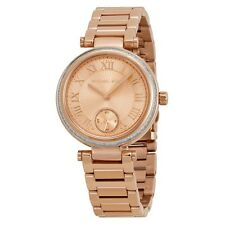 NWT Michael Kors MK5971 Mini Skylar Rose Gold Tone Glitz Bracelet Women's Watch