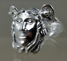 Sicilian Trinacria ring Jewelry Solid.925 sterling silver mens size 11 3-D