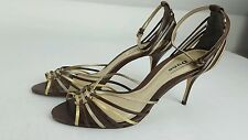 Dune strappy heels brown gold shoes uk 7 eur 40 Holiday wedding night out party