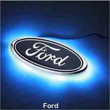 LED Car Tail Logo Auto Badge Light Blue Light for Ford Fiesta Mondeo 11 x 4.5 cm