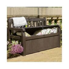 Outdoor Storage Bench Waterproof Garden Box Patio Furniture Brown Seat Pool Deck