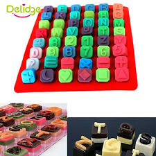 Silicone Letter Alphabet Cake Fondant Chocolate Cookies Candy Mold Mould Tool