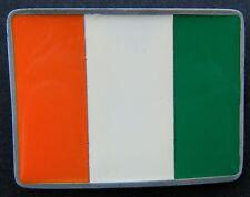 Republique Cote d'Ivoire Flag Belt Buckle Drapeau Ivorien Boucle Ceinture