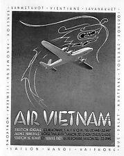 VIETNAM SAIGON AIR VIET NAM AIRLINES PUBLICITE 1953