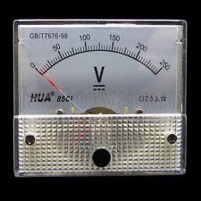 DC 250V Analog Panel Volt Voltage Meter Voltmeter Gauge 85C1 0-250V DC White