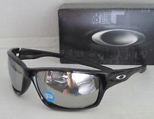 OAKLEY polished black/chrome iridium POLARIZED CANTEEN sunglasses! NEW IN BOX!
