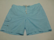 Merona Mens Size 2XL Light Blue Swim Trunk Shorts New
