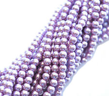 100 Lavender Glass Pearl Round Beads 4MM LIMITED