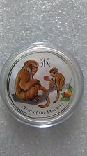 "Australian Lunar II ""Year of the Monkey"", ( Coloured ) 2016, 2 Oz Silver coin"