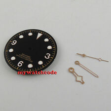 30.4mm black dial rose mark Watch Dial hands for 2824 2836 Movement (dial+hands)