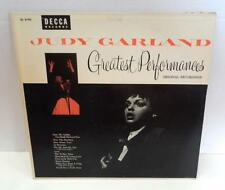 "VTG Vinyl LP Record 12"" JUDY GARLAND Greatest Performances Orig Recordings DECCA"