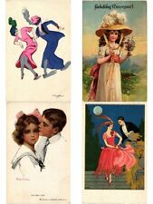 FANTASY GREETINGS SUBJECTS FANTASIE GLAMOUR EMBOSSED 260 CPA in 2 Albums