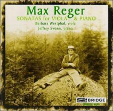 Max Reger: Sonatas for Viola and Piano (CD, Sep-1997, Bridge) FREE FAST SHIPPING