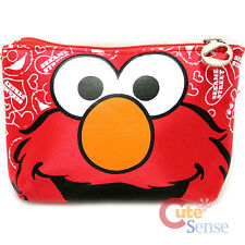 Sesame Street Elmo Big Face Zippered Coin Wallet Mini Pouch 5""