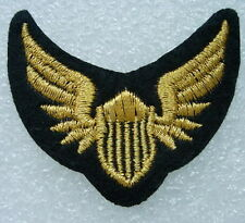 PC131Air Force Pilot Wings Embroidery Patch Badge Gold Iron On 2pcs