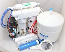 4 Stage Reverse Osmosis 100 GPD with Booster Pump Home Drinking Water Compact