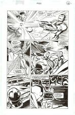 Avengers 400 ART PAGE IRON MAN v ULTRON Pencil & Ink VISION WASP Anniversary Iss