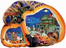 Enter If You Dare Halloween Haunt House SunsOut Shape Jigsaw Puzzle 1000 Piece
