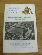 05/05/1970 Chesterfield v Lanerossi Vicenza [Friendly] . Thanks for viewing our