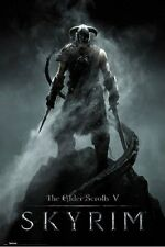 ELDER SCROLLS V: SKYRIM ~ Dragon Born ~ 24x36 Video Game Poster ~ NEW! ~Bethesda