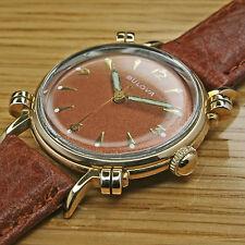 """1953 Vintage BULOVA """"eptune 'Chapado en Oro Rosa De Oro Reloj más grandes de Caballero — recién reparado"""