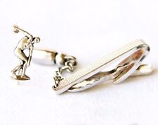 Discus Thrower Pin Tack Tie Clip Hickok USA Silvertone Track &  Field Disc Sport