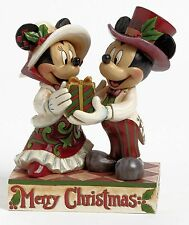 Disney Traditions 4041807 Mickey & Minnie Mouse Victorian Christmas NEW  23190