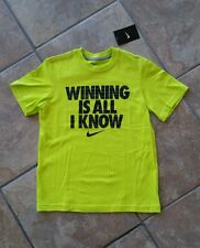 NWT- Boys Nike Short Sleeve T-Shirt. Size Small. WINNING IS ALL I KNOW.