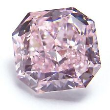 0.63ct Pink Diamond - Natural Loose Fancy Purple Pink Color GIA Cushion SI1