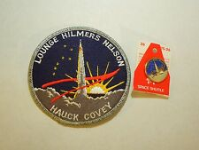 Lot of 2 NASA Space Shuttle Mission STS-26 Endeavour Iron On Patch & Pin