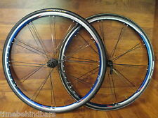 BONTRAGER RACE LITE  BLADED PAIRED 700C SHIMANO HUB BLUE ANODIZED WHEEL SET