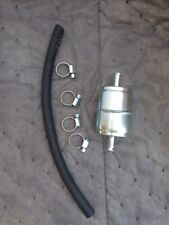 """Prime Universal 5/16"""" Metal Fuel Filter With Hose And Clamps"""