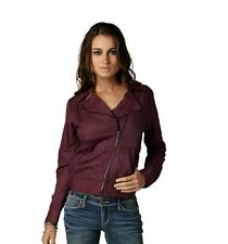 $79 Fox Racing Women's Haze Bomber Jacket Bordeaux Color Size L