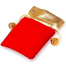 12x10cm Dark Red Jewelry Bag Velvet Pouch Gift Bags With Drawstring Jewellery