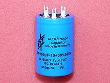 F&T 50+50uF 500V Dual Electrolytic Solder Lugs Capacitor Tube Amplifier