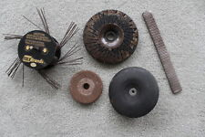VINTAGE: SHAPING TOOLS:-GRINDER WHEEL -SMOOTHER- RUST REMOVER- RASP