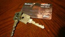NEW Medeco M3 6 pin Card with 2 keys
