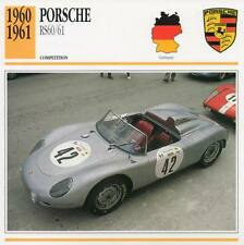 1960-1961 PORSCHE 356B RS60/61 Racing Classic Car Photo/Info Maxi Card