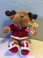 """15"""" Snuggie Pets 2007 Record Play Holiday Pets Reindeer Plush Soft Snuggly Kids"""