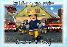 Personalised Birthday card Fireman Sam son grandson brother nephew