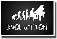 Piano Evolution - Black - NEW Music POSTER