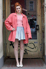 Mantel Jacke jacket coat pink lachs salmon 80er True VINTAGE 80s women parka