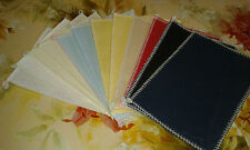 12 sq OF 6in x 4in OVER LOCKED 18ct AIDA 8 colours IDEAL 4 CARD MAKING  ANCHOR