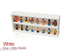 [IDSTAR] White Color Lego Minifigure Display Case for 16pc