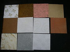 Job Lot CREATIVE Handmade Paper Pack 11 Sheets 6x6 NEW Ass Colours TEXTURED Lot1