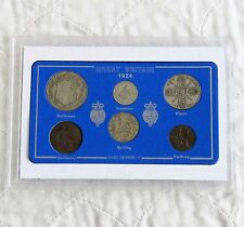 1939 - 1945 WWII SILVER SIXPENCE SET - cased