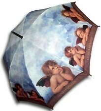 Raffaello angel painting long size automatic umbrella