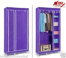 Double Door Folding Wardrobe Cupboard Almirah FREE CREDIT CARD HOLDER