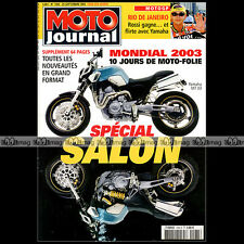 MOTO JOURNAL N°1584-b BMW R 1150 GS VOXAN BLACK MAGIC HONDA VFR 800 VTEC 2003